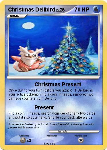 pokémon christmas delibird christmas present my pokemon card
