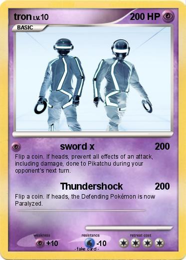 Pokémon Tron 93 93 Sword X My Pokemon Card