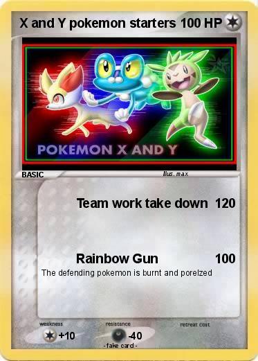Pokémon X and Y pokemon starters - Team work take down - My ...
