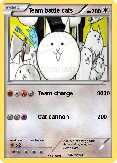 Pokémon Team battle cats - Team charge 9000 - My Pokemon Card
