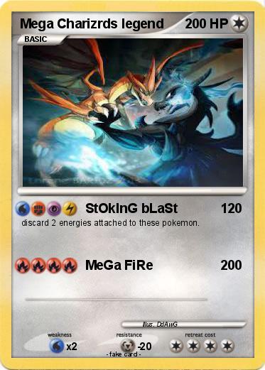 Pok 233 Mon Mega Charizrds Legend Stoking Blast My Pokemon