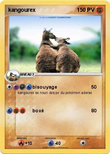 Pok mon kangourex 1 1 bisouyage ma carte pok mon - Pokemon mega kangourex ...