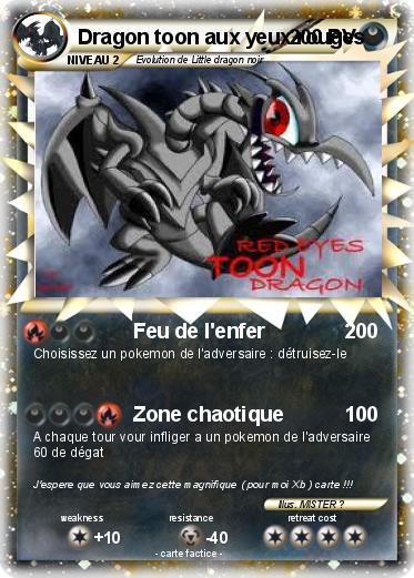Pok mon dragon toon aux yeux rouges feu de l 39 enfer ma - Pierre feu pokemon noir ...
