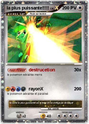 Pok mon la plus puissante destrucetion ma carte pok mon - La plus forte carte pokemon du monde ...