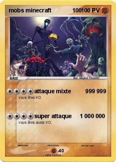 Pok 233 Mon Mobs Minecraft 100 100 Attaque Mixte 999 999