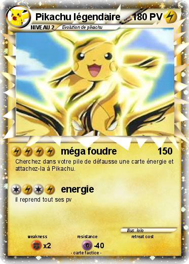 Pok mon pikachu legendaire 2 2 m ga foudre ma carte - Pokemon y pokemon legendaire ...