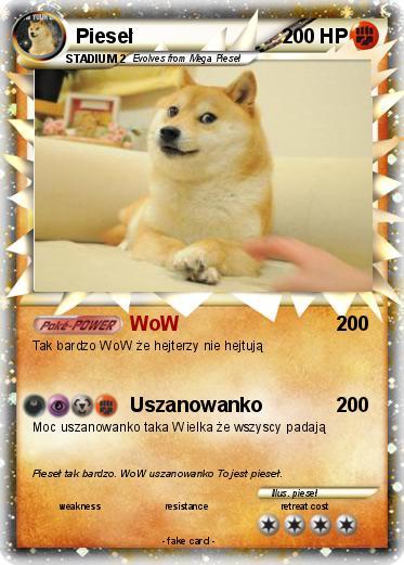 Pokemon Piesel 24 24 Wow Twoja Wlasna Karta Pokemon