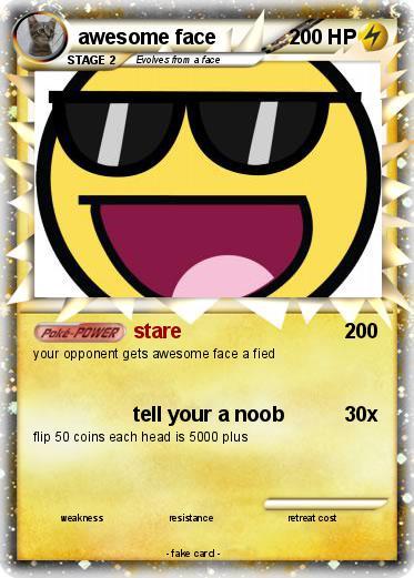 Pokémon Awesome Face 377 377 Stare My Pokemon Card