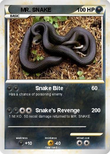 Pokémon MR SNAKE - Snake Bite - My Pokemon Card