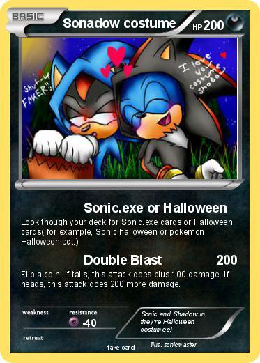 Pokemon Sonadow costume  sc 1 st  My Pokemon card & Pokémon Sonadow costume - Sonic.exe or Halloween - My Pokemon Card
