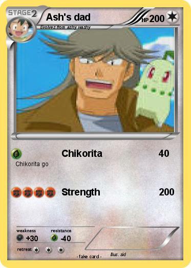 Pokémon Ash s dad - Chikorita - My Pokemon Card