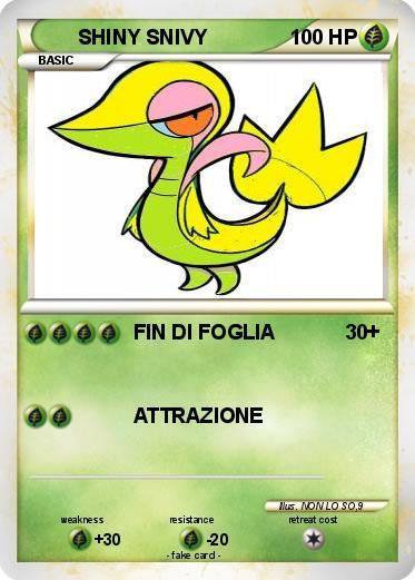 Pokémon SHINY SNIVY 6 6 - FIN DI FOGLIA - My Pokemon Card