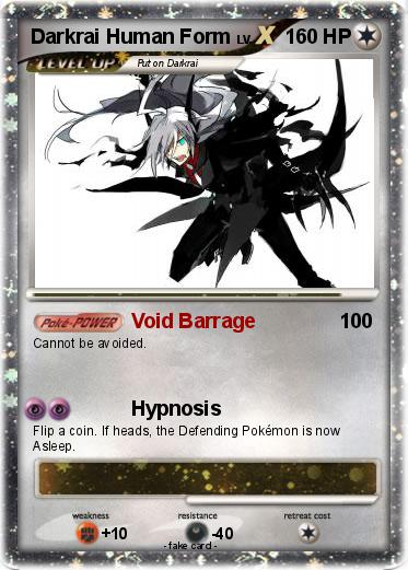 Pokémon Darkrai Human Form - Void Barrage - My Pokemon Card