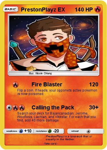 Pok 233 Mon Prestonplayz Ex 1 1 Fire Blaster My Pokemon Card