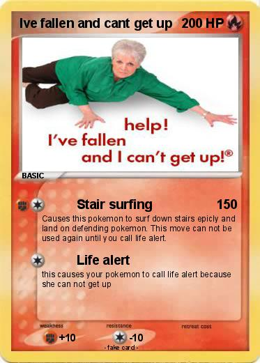 pokémon ive fallen and cant get up stair surfing my pokemon card