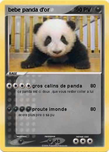 Pok mon bebe panda d or gros calins de panda ma carte pok mon - Coloriage a imprimer de panda geant ...