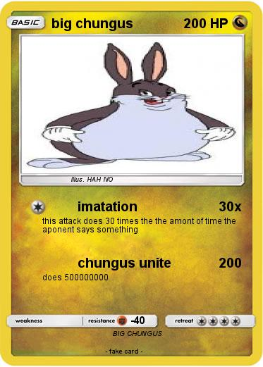 Pokemon Big Chungus 29 29 Imatation My Pokemon Card