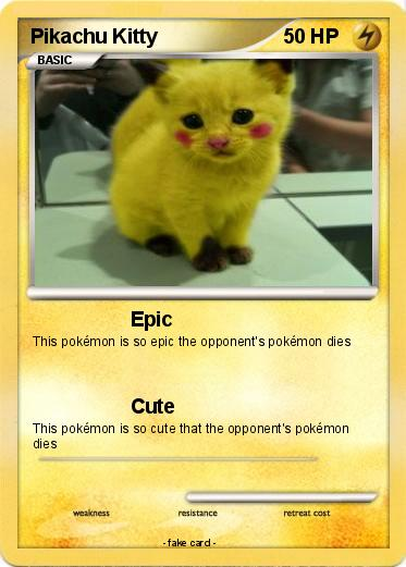 pokémon pikachu kitty epic my pokemon card