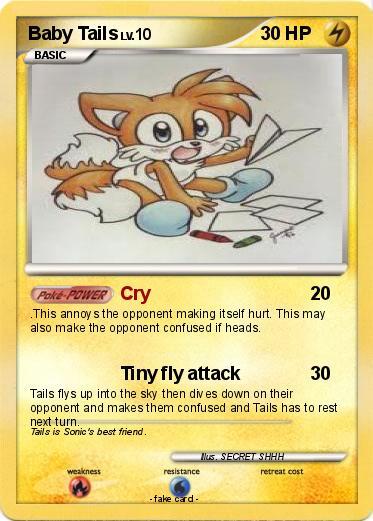 Pokémon Baby Tails 21 21 Cry My Pokemon Card