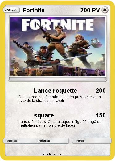 Pokemon Fortnite 9 9 Lance Roquette Ma Carte Pokemon