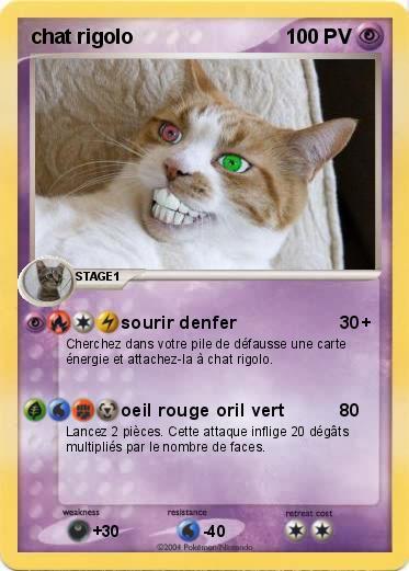 Pok mon chat rigolo 1 1 sourir denfer ma carte pok mon - Images de chats rigolos ...