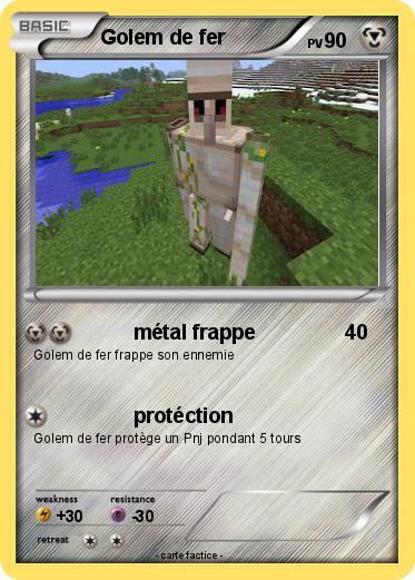 Pok mon golem de fer 7 7 m tal frappe ma carte pok mon - Minecraft golem de fer ...