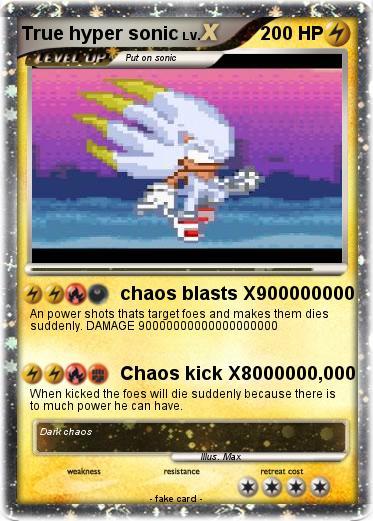 pokémon true hyper sonic 5 5 chaos blasts x900000000 my pokemon card