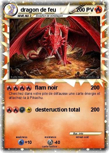Pok mon dragon de feu 197 197 flam noir ma carte pok mon - Pierre feu pokemon noir ...
