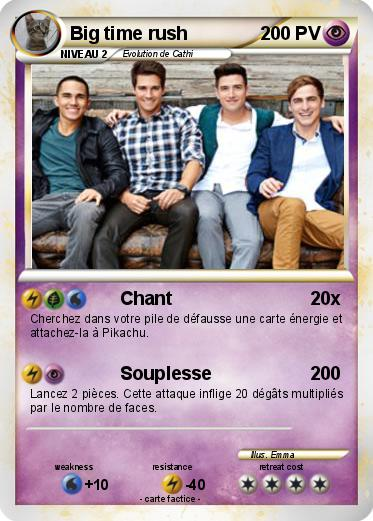 Pokemon Big Time Rush 133 133 Chant Ma Carte Pokemon