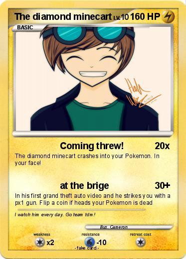 pokémon the diamond minecart 15 15 coming threw my pokemon card
