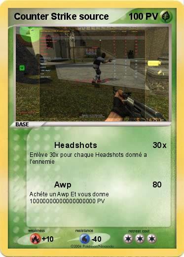 Pokémon Counter Strike source - Headshots - Ma carte Pokémon