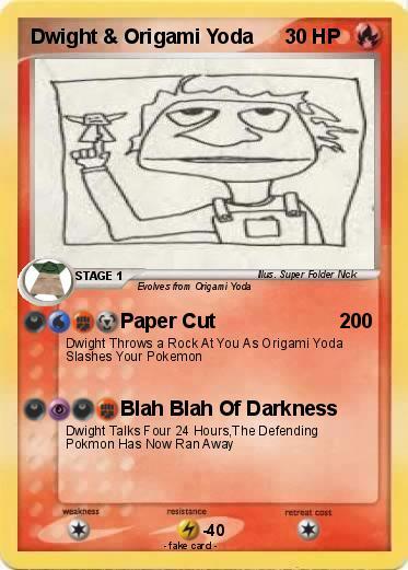 Pokemon Dwight Origami Yoda