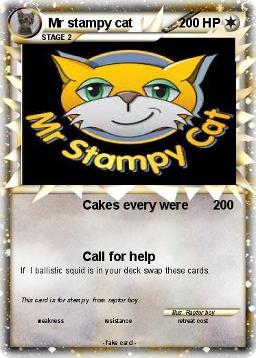 Pokemon Mr Stampy Cat