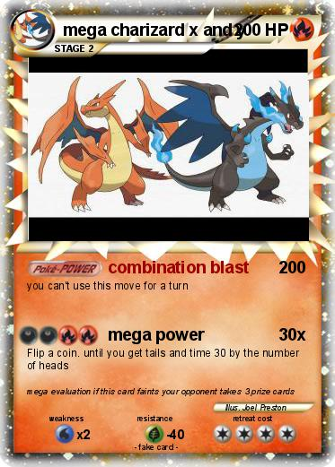 Pokémon mega charizard x and y 2 2 - combination blast ...