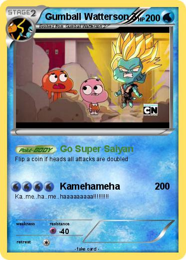 Pokémon Gumball Watterson 3 1 1 Go Super Saiyan My Pokemon Card