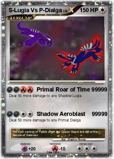 Pokémon S Lugia Vs P Dialga - Primal Roar of Time 99999 ...