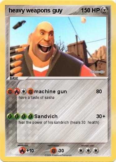pokémon heavy weapons guy 10 10 machine gun my pokemon card