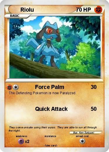 Pokémon Riolu 379 379 - Force Palm - My Pokemon Card
