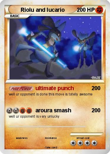 Pokémon Riolu and lucario 7 7 - ultimate punch - My ...