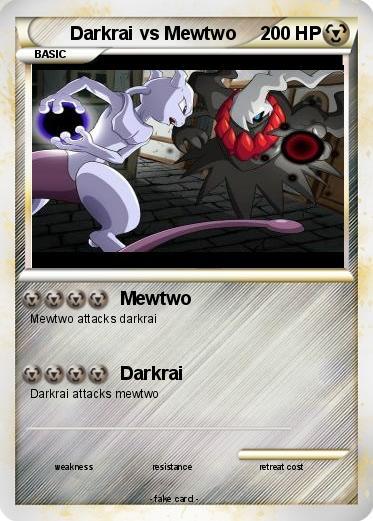 Pok 233 Mon Darkrai Vs Mewtwo 7 7 Mewtwo My Pokemon Card