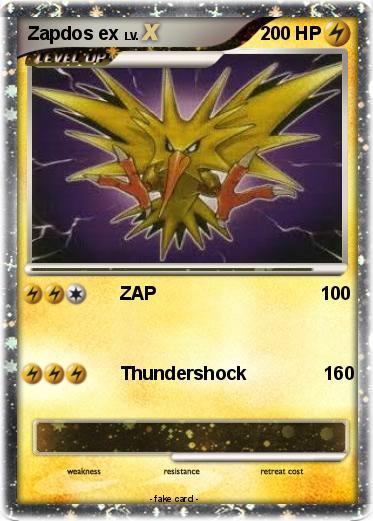 Pokémon Zapdos ex 22 22 - ZAP 100 - My Pokemon Card