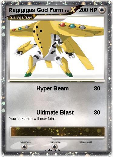 Pok 233 Mon Regigigas God Form Hyper Beam My Pokemon Card