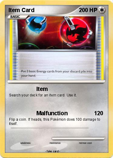Pokémon Item Card 1 1 - Item - My Pokemon Card
