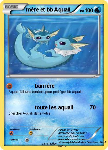 Pok mon mere et bb aquali barri re ma carte pok mon - Carte pokemon aquali ...