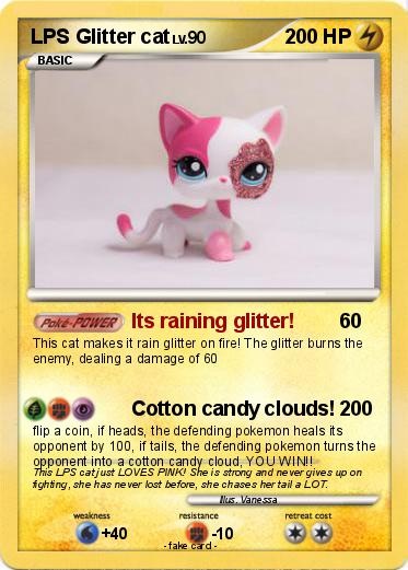Candy Cat makes it rain