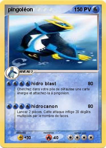 Pok mon pingoleon 3 3 hidro blast ma carte pok mon - Pokemon pingoleon ...