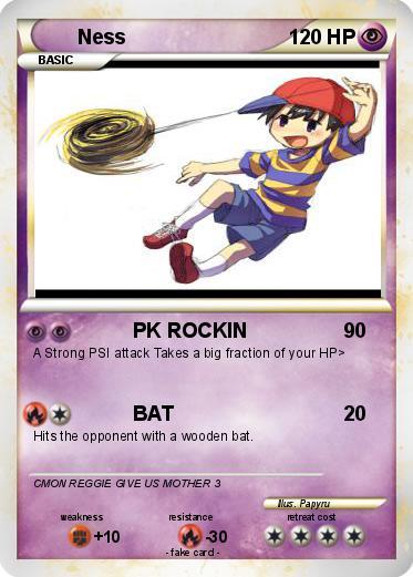 Pokémon Ness 341 341 - PK ROCKIN - My Pokemon Card