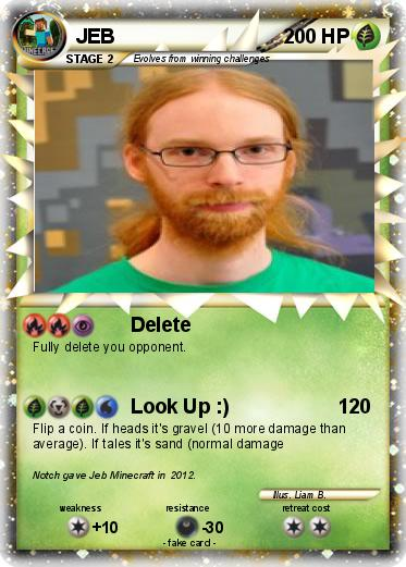 Pokemon Jeb 18 18 Delete My Pokemon Card