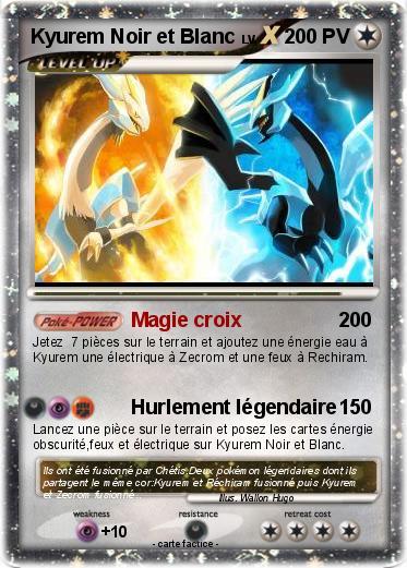Pok mon kyurem noir et blanc 42 42 magie croix ma - Pokemon legendaire blanc 2 ...