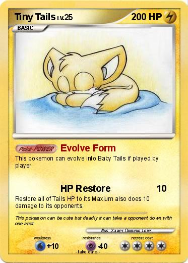 Pokémon Tiny Tails Evolve Form My Pokemon Card